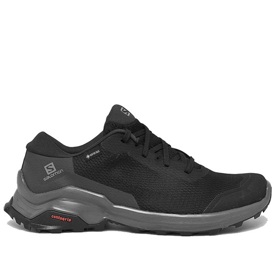 SALOMON X REVEAL GTX ZAPATILLA TRAIL GORE- TEX HOMBRE 409691  BLACK/PHANTOM/MAGNET SAL054